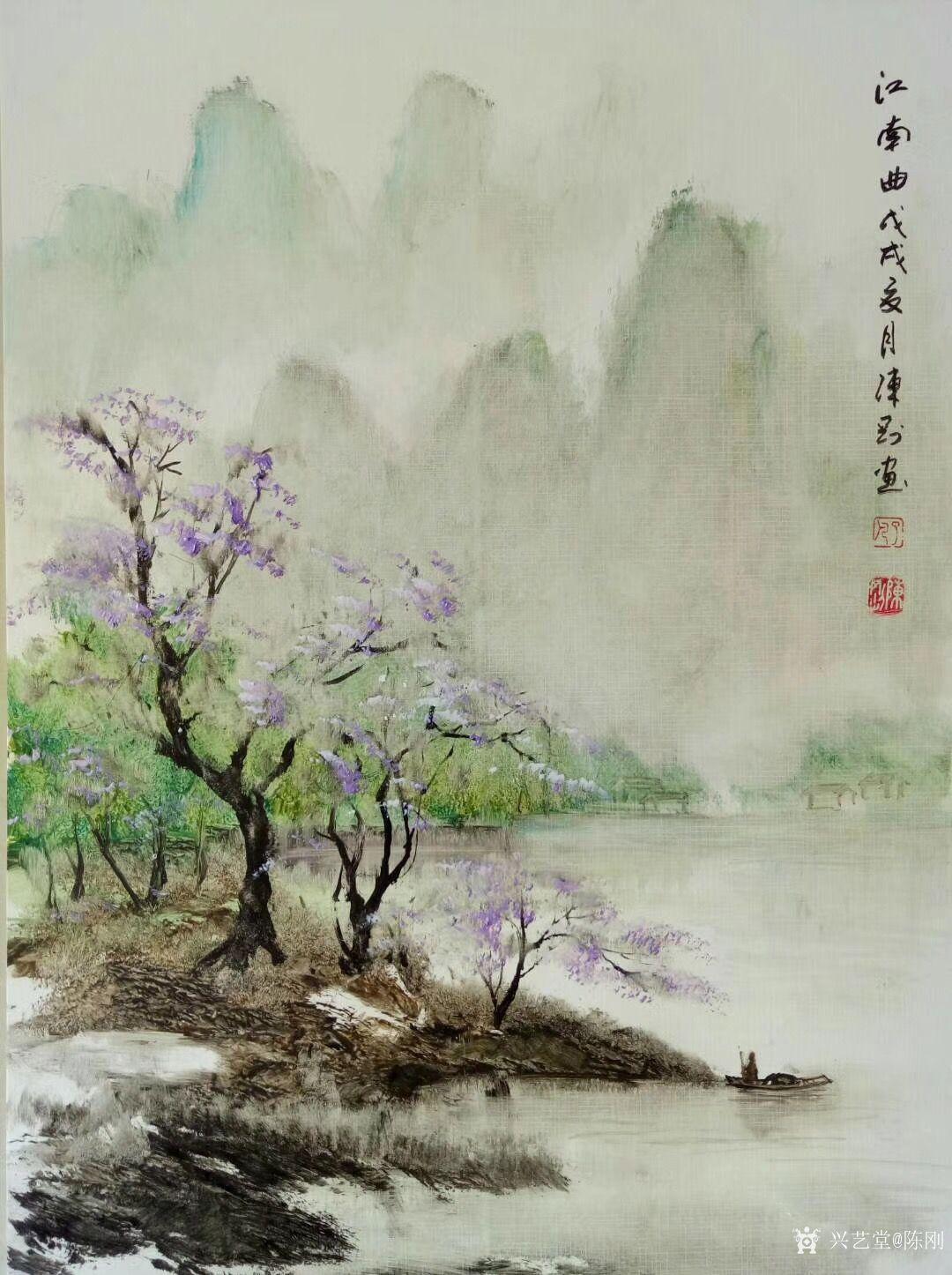 陈刚日志-江南写生之《江南曲》,国画山水画近作,感谢关注【图1】图片