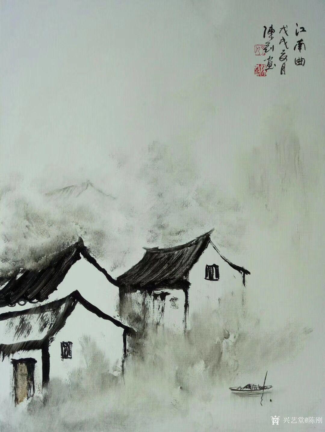 陈刚日记:江南写生之《江南曲》,国画山水图片