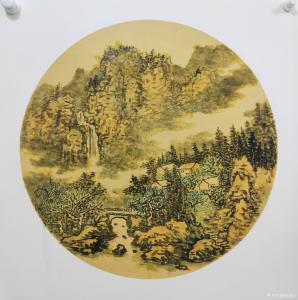 艺术品图片:艺术家宋保江国画作品《家在青山绿水间》议价