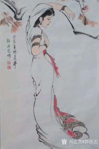 艺术品图片:艺术家郭浩艺国画作品《仕女人物画-长摆裙》议价