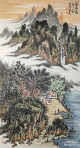 艺术品图片:艺术家陈宏洲国画作品《山水画-山高水长》议价