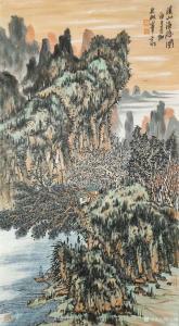 艺术品图片:艺术家陈宏洲国画作品《山水画-溪山渔隐图》议价