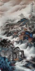 艺术品图片:艺术家周顺生国画作品《周顺生四尺漓水长流》价格1688.00 元