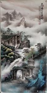 艺术品图片:艺术家周顺生国画作品《周顺生院长春瑞石头城》价格1999.00 元