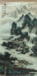 艺术品图片:艺术家周顺生国画作品《周顺生四尺漓江客船归》价格1699.00 元