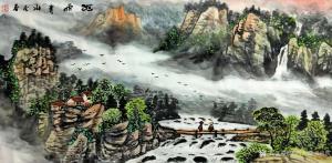 艺术品图片:艺术家陕西大秦书画院国画作品《臧茂春三尺作品》价格1200.00 元