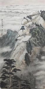 艺术品图片:艺术家郝鹏云国画作品《山水-华岳西峰秀》议价