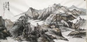 艺术品图片:艺术家张祖坤国画作品《山水-羌屋有声春江暖》议价