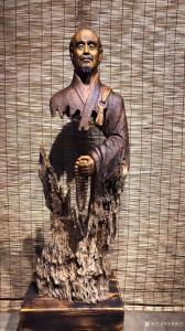 艺术品图片:艺术家飞黄根艺雕刻作品《根雕作品-弘一法师》议价