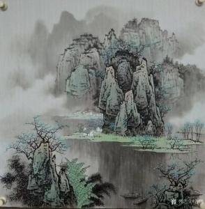 艺术品图片:艺术家谷风国画作品《漓江山水3》价格600.00 元