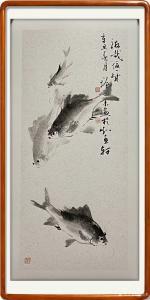 艺术品图片:艺术家冯增木国画作品《鱼-游哉一生》议价