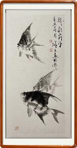 艺术品图片:艺术家冯增木国画作品《鱼-悠悠升平》议价