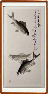 艺术品图片:艺术家冯增木国画作品《泉清鱼乐》议价