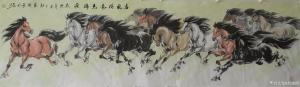 艺术品图片:艺术家刘建国国画作品《春风得意马蹄疾》议价
