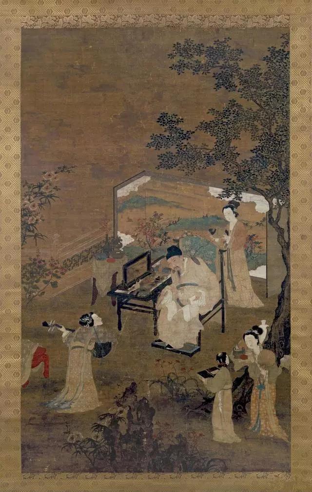 唐寅 陶谷弱兰图 大不列颠博物馆