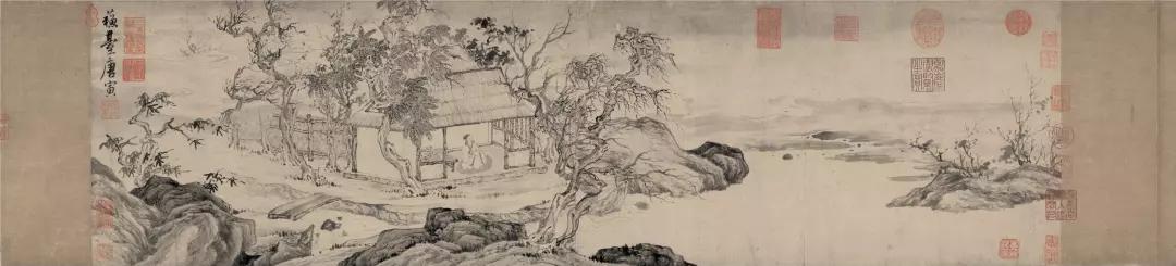 明 唐寅 悟阳子养性图 纸本水墨 29.5×103.5厘米 辽宁省博物馆藏