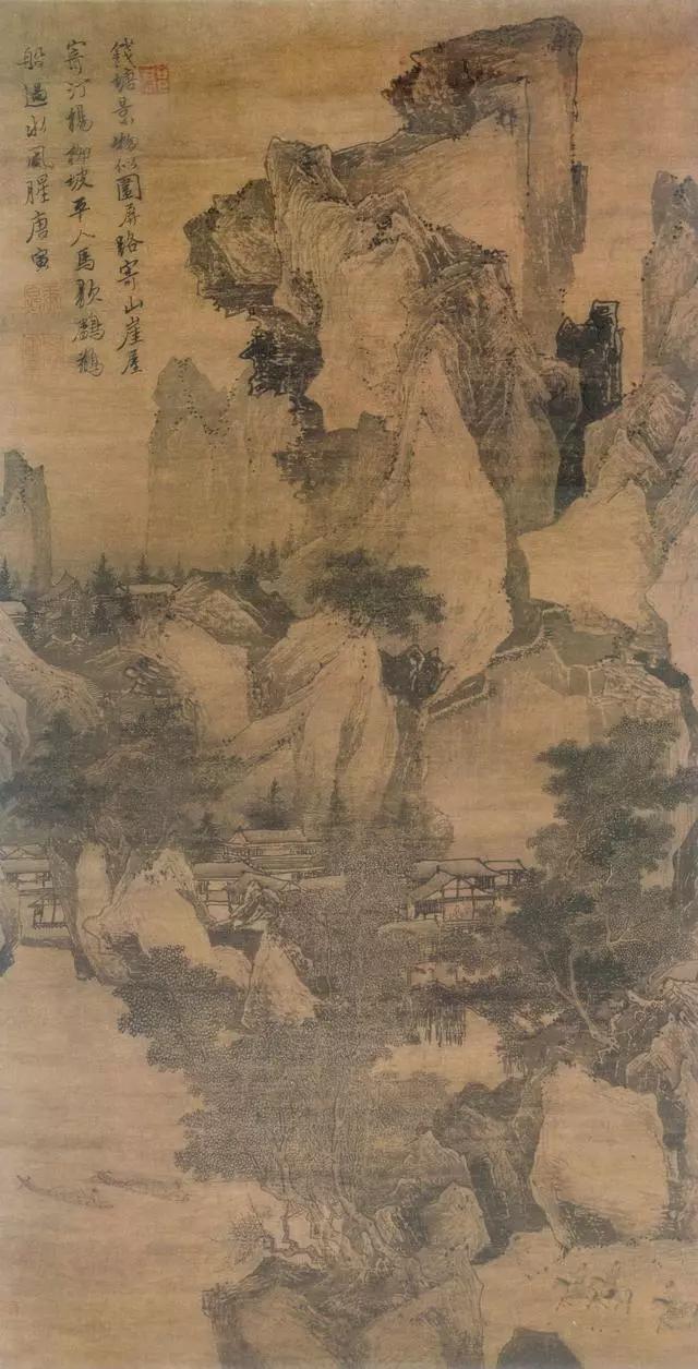 唐寅 钱塘景物图 故宫博物院藏