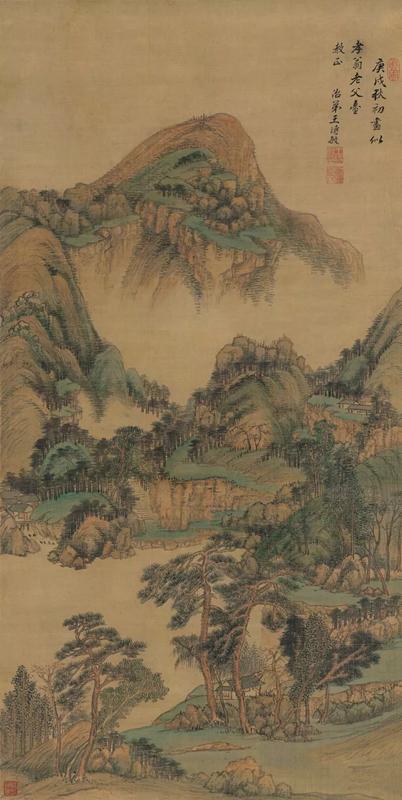 清 王时敏 云峰树色图