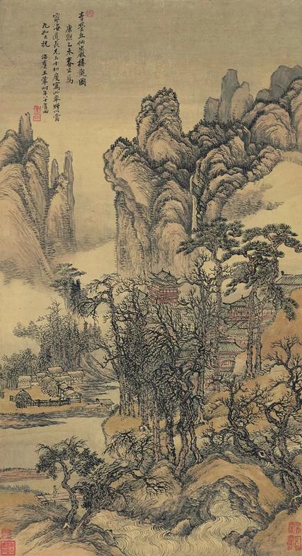 清 王翚 仙山楼观图