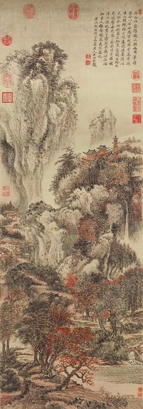 清 王翚 溪山红树图
