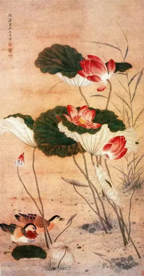 清代国画大师吴振武 荷花作品欣赏