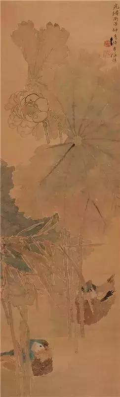 清代国画大师任伯年 荷花作品欣赏
