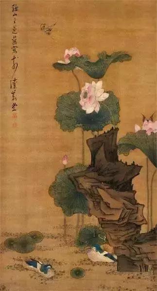 明代国画大师陈洪绶 荷花作品欣赏