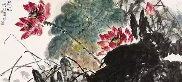 国画大师何水法 荷花作品欣赏