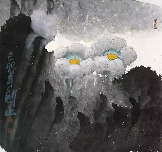 国画大师李魁正 荷花作品欣赏