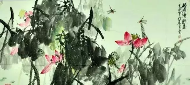 国画大师刘存惠 荷花作品欣赏