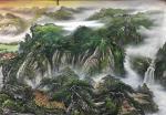 周卫红日志-小八尺重彩山水,97x240Cm。【图3】