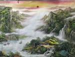 周卫红日志-小八尺重彩山水,97x240Cm。【图5】