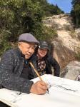 叶仲桥生活-一周的学习与收获,除了获赠册页题字、还获得了大师赠送的毛笔一【图4】