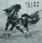 刘建国日志-元旦晚上,画了两匹马,一个是《漫步草原》,一个是《回望故乡》【图1】