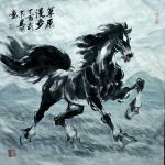 刘建国日志-元旦晚上,画了两匹马,一个是《漫步草原》,一个是《回望故乡》【图2】