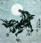刘建国日志-新作国画动物:《龙马精神》《前程似锦》,尺寸  60*90 【图1】