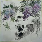 张丙强藏宝-国画动物画《紫气东来迎戍狗》,《春朝图》,新年新气象,狗年大【图1】
