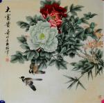 韩梅日志-四尺斗方工笔花鸟画《大富贵》《大吉利》,韩梅作品【图1】