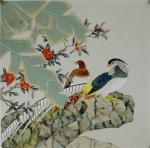 韩梅日志-四尺斗方工笔花鸟画《大富贵》《大吉利》,韩梅作品【图3】