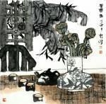 魏杰日志-魏杰老师 水墨画 小作几幅 谢谢各位一直以来的支持 祝大家节【图3】