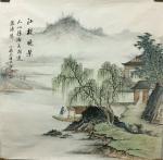 李伟成藏宝-中国古风山水画《万壑松风》,《烟江叠嶂》,《江堤晚景》,客户【图3】