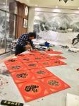 叶仲桥生活-挑灯夜战写百福。接中国文化部、中国驻坦桑尼亚大使馆艺术中心的【图2】