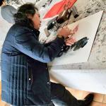 叶仲桥生活-1月30日早上给小画家们送祝福,下午接待广西壮族自治区政商代【图1】