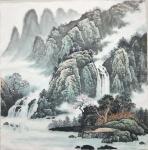 李振军藏宝-山水国画三幅,客户订的精品斗方。李振军【图1】