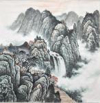 李振军藏宝-山水国画三幅,客户订的精品斗方。李振军【图2】