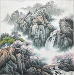 李振军藏宝-山水国画三幅,客户订的精品斗方。李振军【图3】