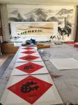 叶仲桥日志-国画作品《一带一路南粤古驿道之新丝绸之路》刚刚完成。这两天都【图1】