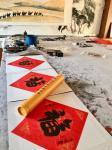 叶仲桥日志-国画作品《一带一路南粤古驿道之新丝绸之路》刚刚完成。这两天都【图2】