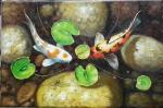 甘佑红日志-油画《年年有鱼》,天天有鱼,年年有余!18不可收拾!甘佑红【图1】