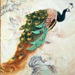 石海博藏宝-精品工笔画《孔雀》,客户订制稿完工,新年新气象,恭祝新年生意【图1】